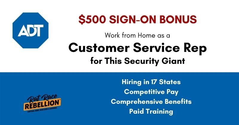 work from home for ADT