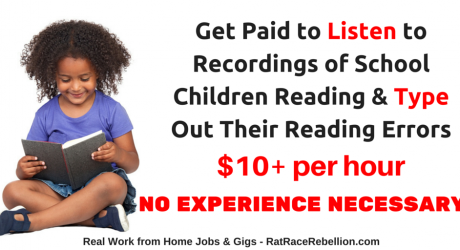 $10+/Hour - Listen to Recordings of Children Reading & Type